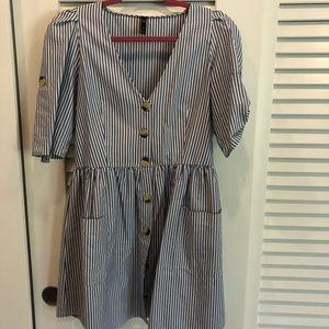 Mini dress Zar stripes